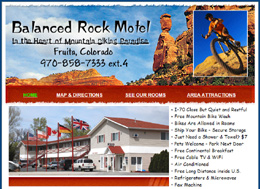 Balanced Rock Motel website design and SEO